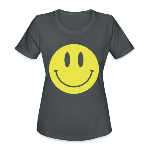 Smiley - Women's Moisture Wicking Performance T-Shirt