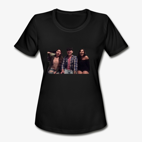 Fido, Cindy, and Tania - Women's Moisture Wicking Performance T-Shirt