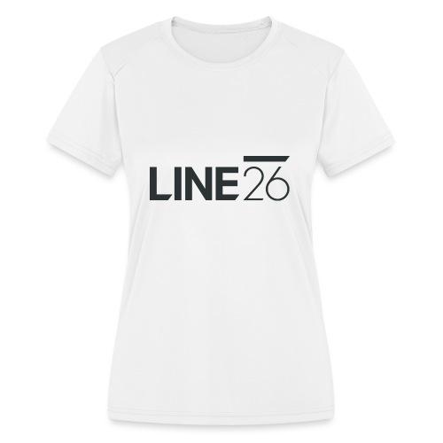 Line26 Logo (Dark Version) - Women's Moisture Wicking Performance T-Shirt
