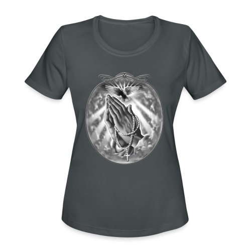 Praying Hands by RollinLow - Women's Moisture Wicking Performance T-Shirt