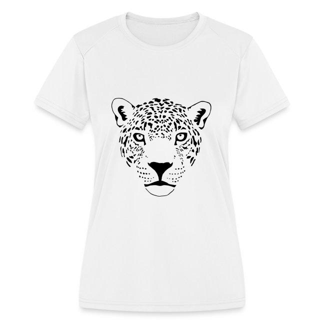 léopard jaguar puma fauve prédateur chat tigre   T shirt performance Femme