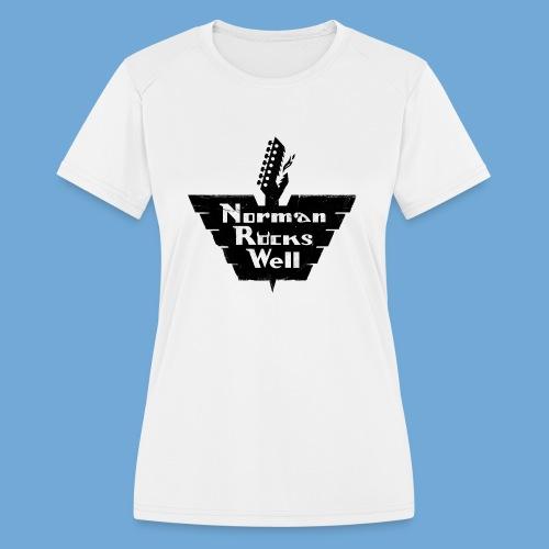 Norman Rocks Well logo in black. - Women's Moisture Wicking Performance T-Shirt