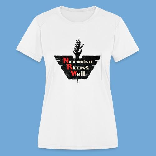 Norman Rocks Well (RGB) - Women's Moisture Wicking Performance T-Shirt
