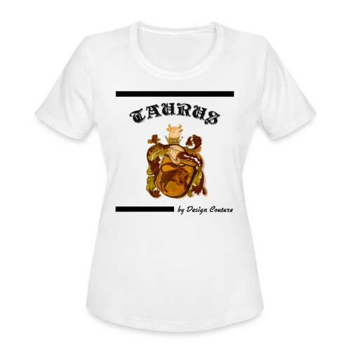 TAURUS BLACK - Women's Moisture Wicking Performance T-Shirt