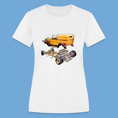 Hot rod body on frame - Women's Moisture Wicking Performance T-Shirt
