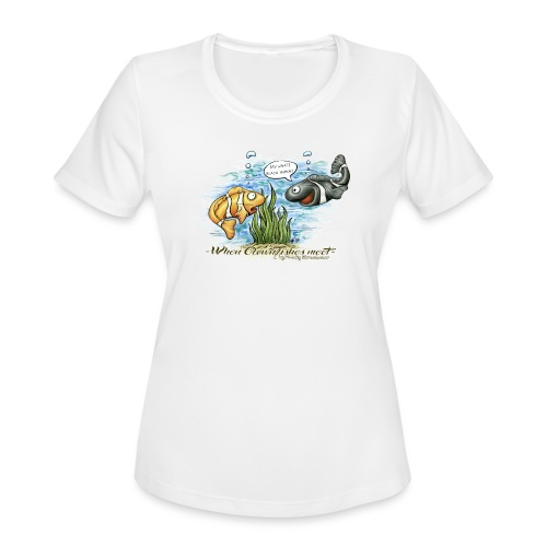 when clownfishes meet - Women's Moisture Wicking Performance T-Shirt