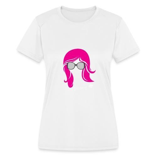 Geo Nerd (her) - Women's Moisture Wicking Performance T-Shirt