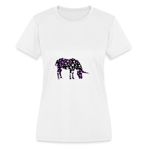 Unicorn Hearts purple - Women's Moisture Wicking Performance T-Shirt
