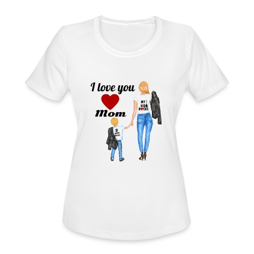 Mother's day gift from daughter, Mother's Day Gift - Women's Moisture Wicking Performance T-Shirt