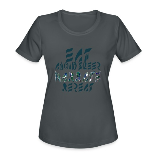 Eat Sleep Narrate Repeat - Women's Moisture Wicking Performance T-Shirt