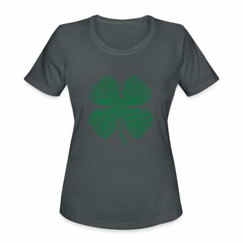 Shamrock Word Cloud - Women's Moisture Wicking Performance T-Shirt
