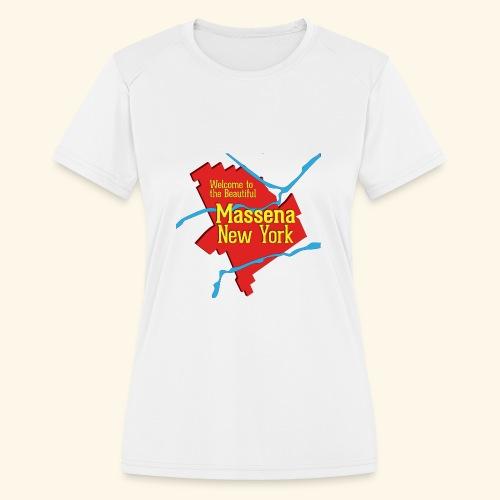 Massena NY Red - Women's Moisture Wicking Performance T-Shirt