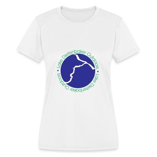 LDO WHITE LOGO - Women's Moisture Wicking Performance T-Shirt