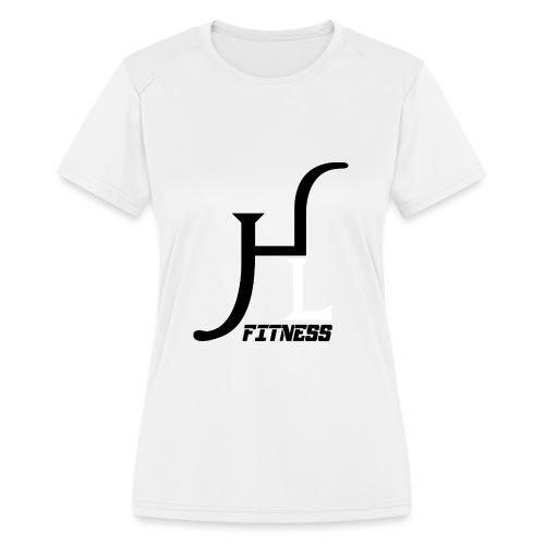 HIIT Life Fitness logo white - Women's Moisture Wicking Performance T-Shirt