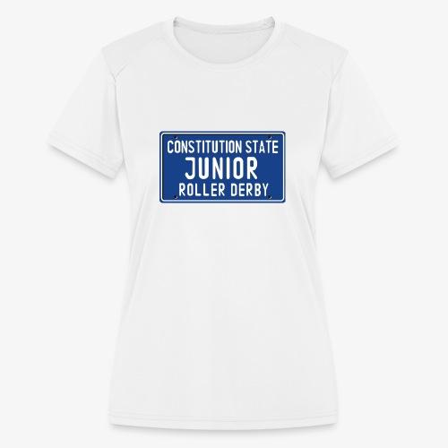 Constitution State Junior Roller Derby - Women's Moisture Wicking Performance T-Shirt