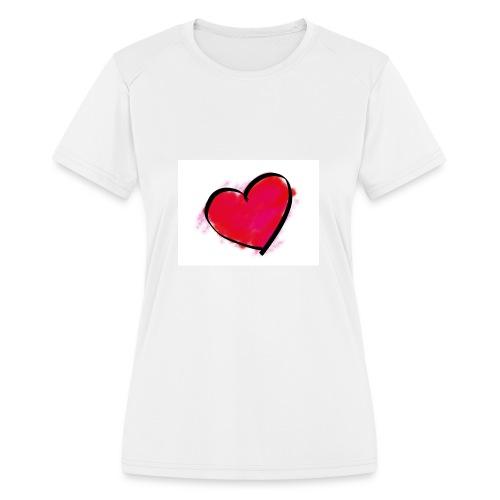 heart 192957 960 720 - Women's Moisture Wicking Performance T-Shirt
