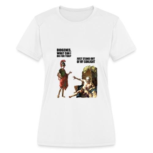 hlalexander and diogene2 black - Women's Moisture Wicking Performance T-Shirt