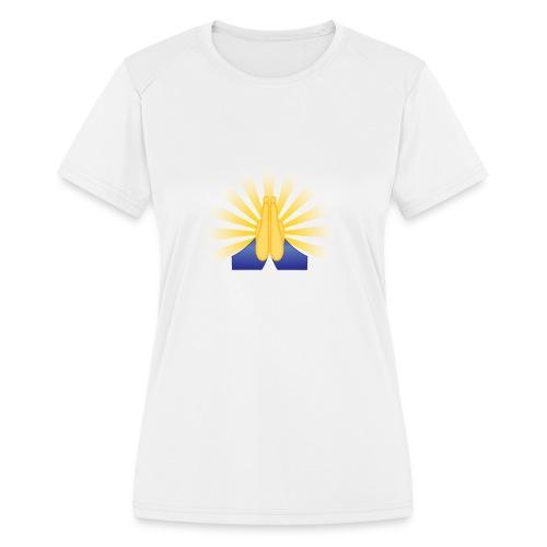 Prayer Hands - Women's Moisture Wicking Performance T-Shirt