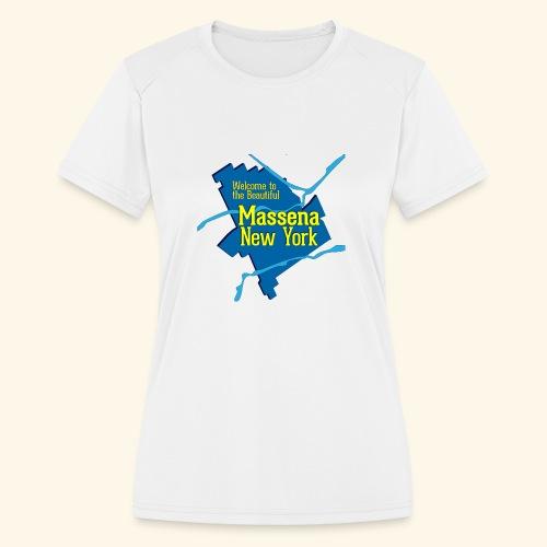 Massena NY Blue - Women's Moisture Wicking Performance T-Shirt
