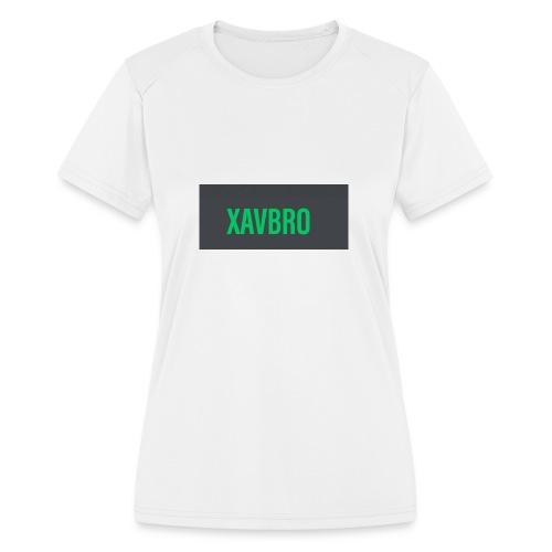 xavbro green logo - Women's Moisture Wicking Performance T-Shirt