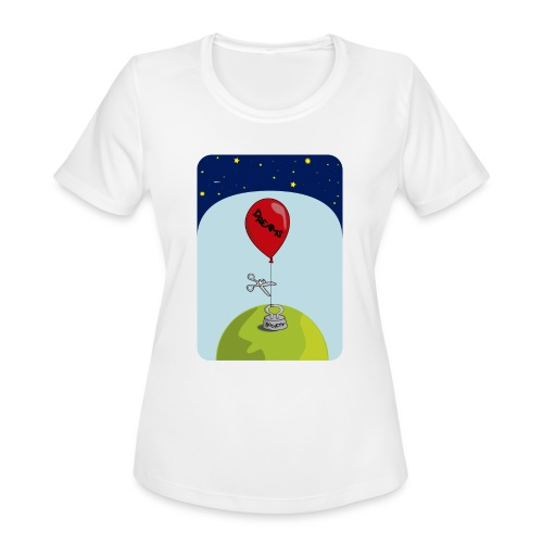 dreams balloon and society 2018 - Women's Moisture Wicking Performance T-Shirt