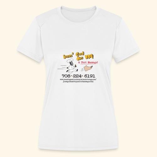 Jones Good Ass BBQ and Foot Massage logo - Women's Moisture Wicking Performance T-Shirt