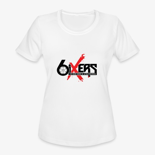 6ixersLogo - Women's Moisture Wicking Performance T-Shirt