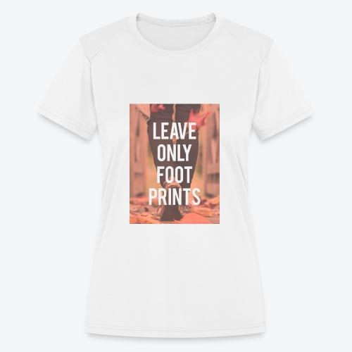 Footprints - Women's Moisture Wicking Performance T-Shirt