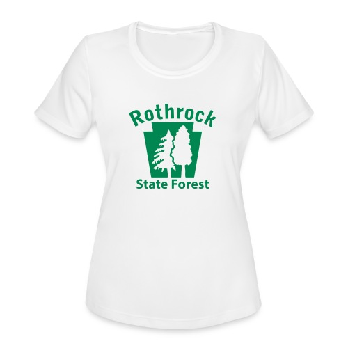Rothrock State Forest Keystone (w/trees) - Women's Moisture Wicking Performance T-Shirt