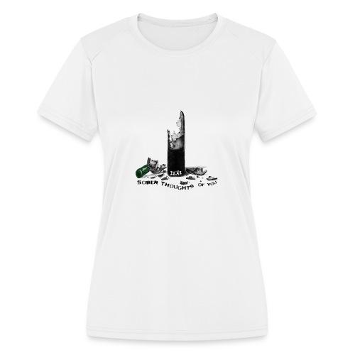 SOBER MERCH - Women's Moisture Wicking Performance T-Shirt
