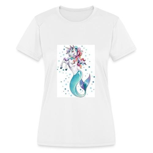 unicorn mermaid - Women's Moisture Wicking Performance T-Shirt