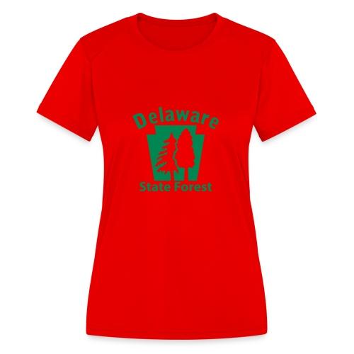 Delaware State Forest Keystone (w/trees) - Women's Moisture Wicking Performance T-Shirt