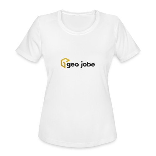 GEO Jobe Corp Logo - Black Text - Women's Moisture Wicking Performance T-Shirt