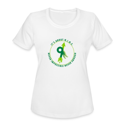 NINE Logo with Wings - Women's Moisture Wicking Performance T-Shirt