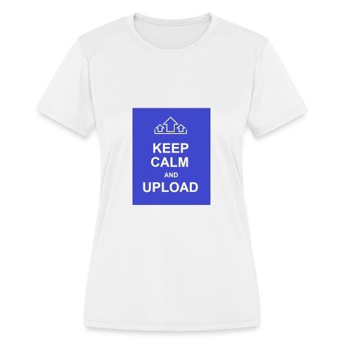 RockoWear Keep Calm - Women's Moisture Wicking Performance T-Shirt