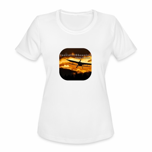"InovativObsesion ""TAKE FLIGHT"" apparel - Women's Moisture Wicking Performance T-Shirt"
