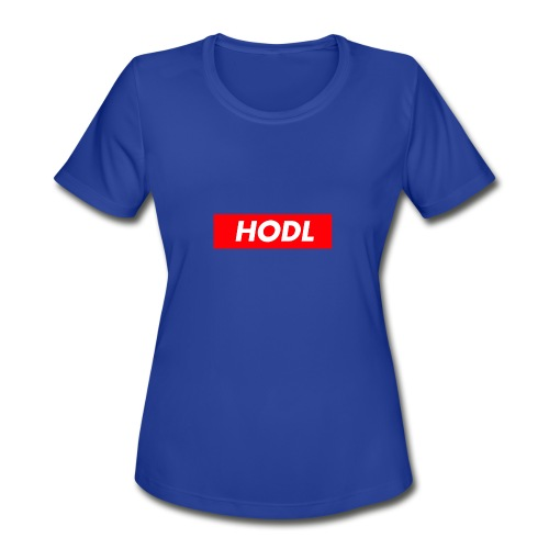 Hodl BoxLogo - Women's Moisture Wicking Performance T-Shirt