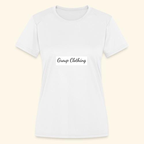 Cursive Black and White Hoodie - Women's Moisture Wicking Performance T-Shirt