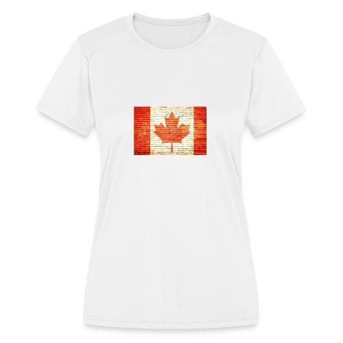 Canada flag - Women's Moisture Wicking Performance T-Shirt