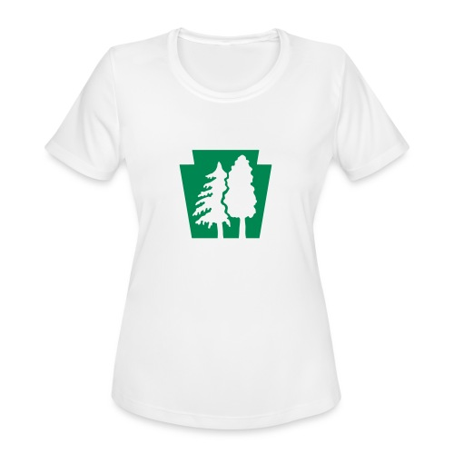 PA Keystone w/trees - Women's Moisture Wicking Performance T-Shirt