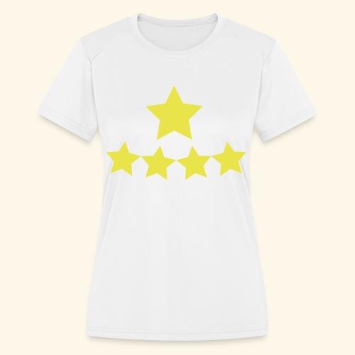 5 Stars - Women's Moisture Wicking Performance T-Shirt