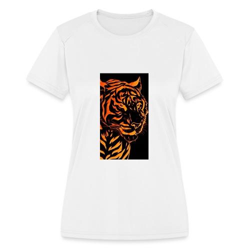 Fire tiger - Women's Moisture Wicking Performance T-Shirt
