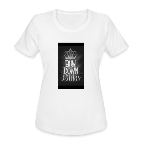 Bow to the Queen - Women's Moisture Wicking Performance T-Shirt
