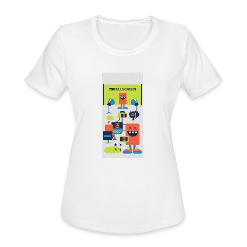 iphone5screenbots - Women's Moisture Wicking Performance T-Shirt