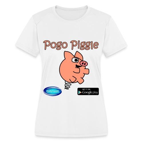 Pogo Piggle - Women's Moisture Wicking Performance T-Shirt