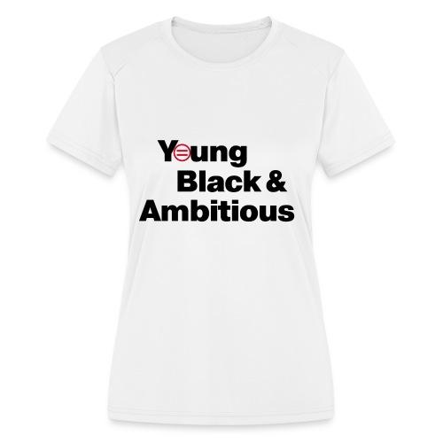 YBA white and gray shirt - Women's Moisture Wicking Performance T-Shirt