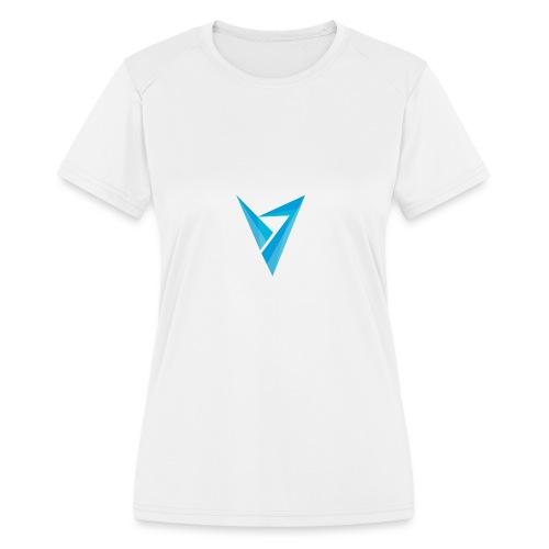 v logo - Women's Moisture Wicking Performance T-Shirt