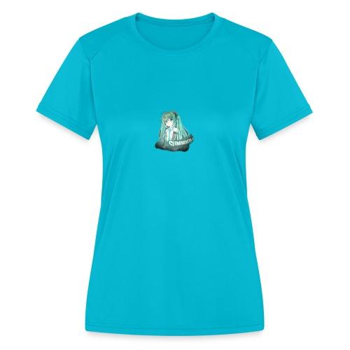 Summrrz Logo Transparent - Women's Moisture Wicking Performance T-Shirt