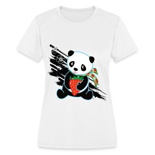 Cute Kawaii Panda T-shirt by Banzai Chicks - Women's Moisture Wicking Performance T-Shirt