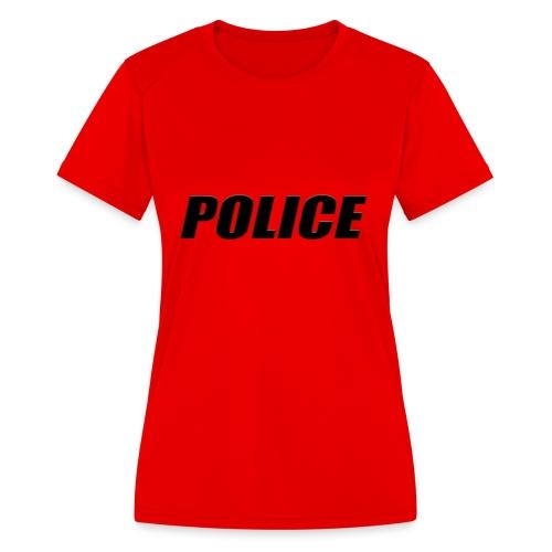 Police Black - Women's Moisture Wicking Performance T-Shirt